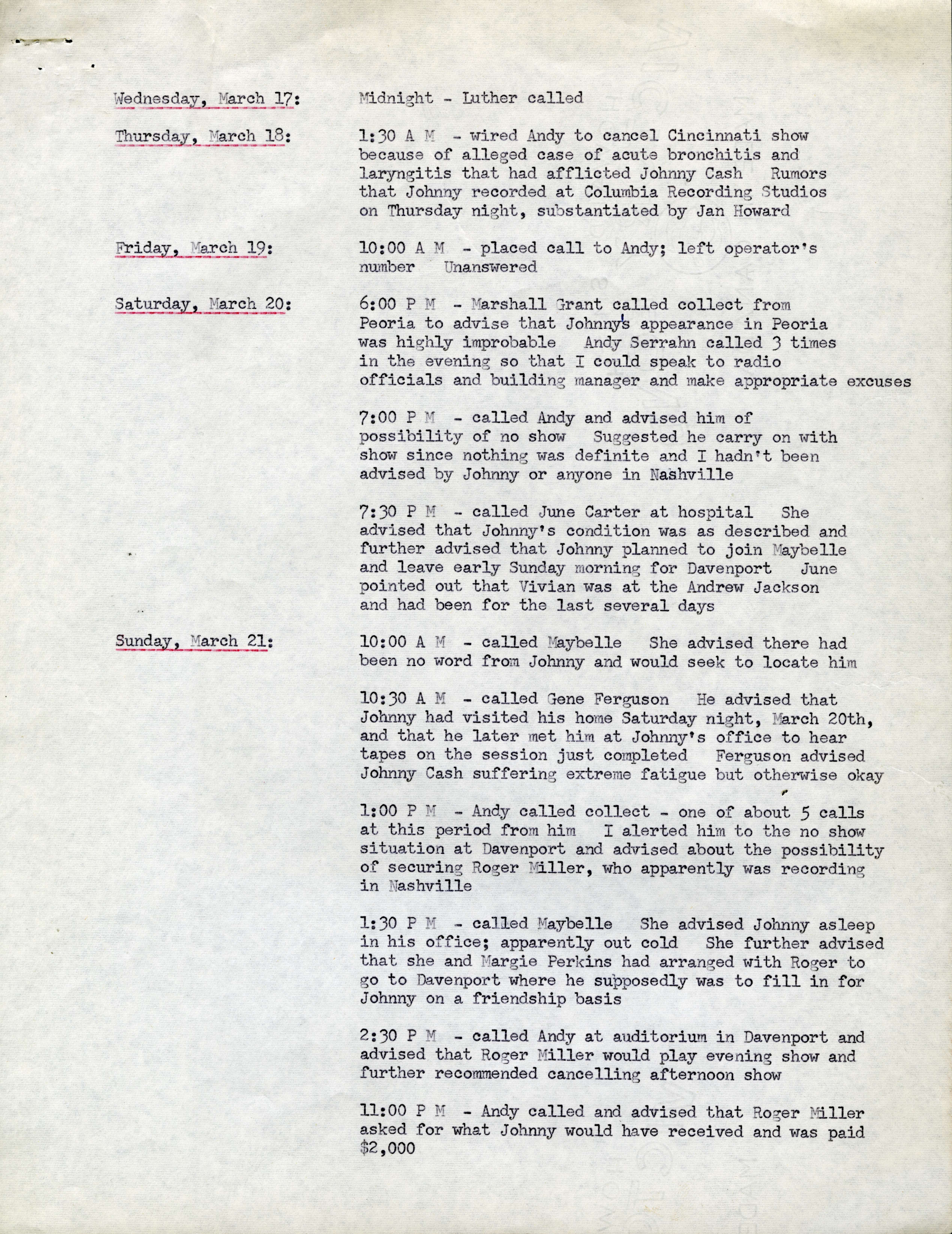 Event log, 17-23 March 1965 - Volatile Attractions - UVic Exhibits