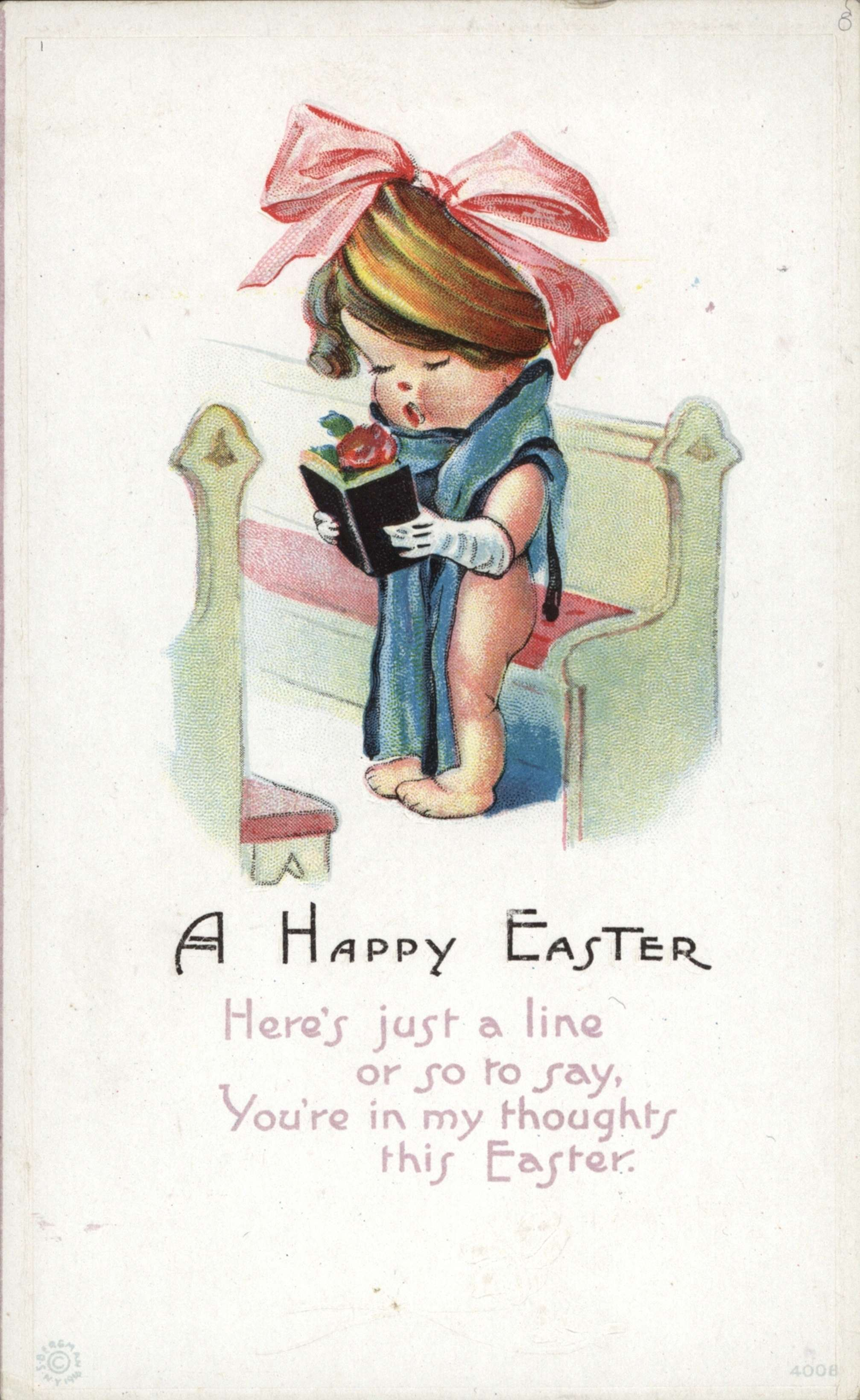 theodore monk postcard a happy easter victoria to vimy uvic