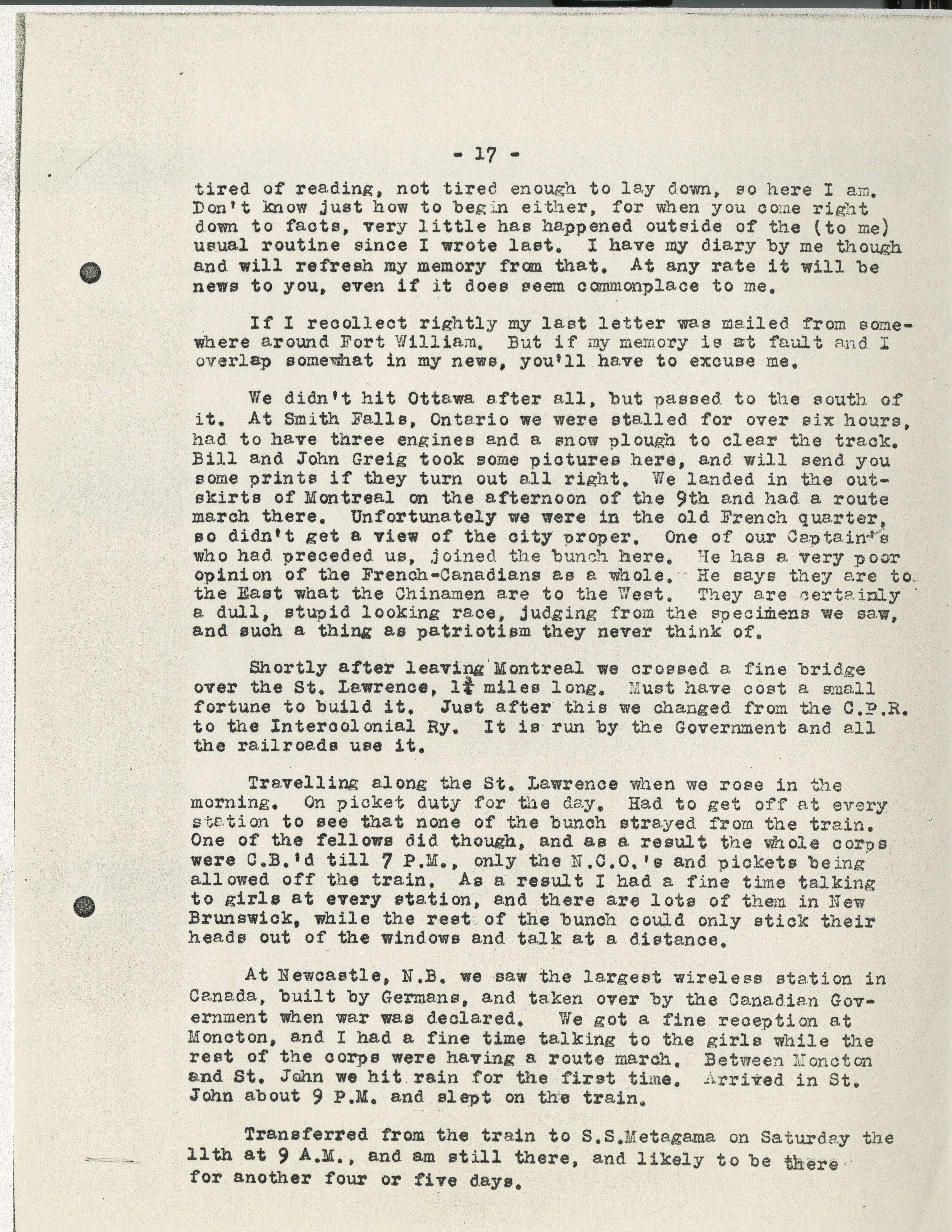 8f74e1d4ddca6 Frederick Carne WWI letters - Victoria to Vimy - UVic Exhibits
