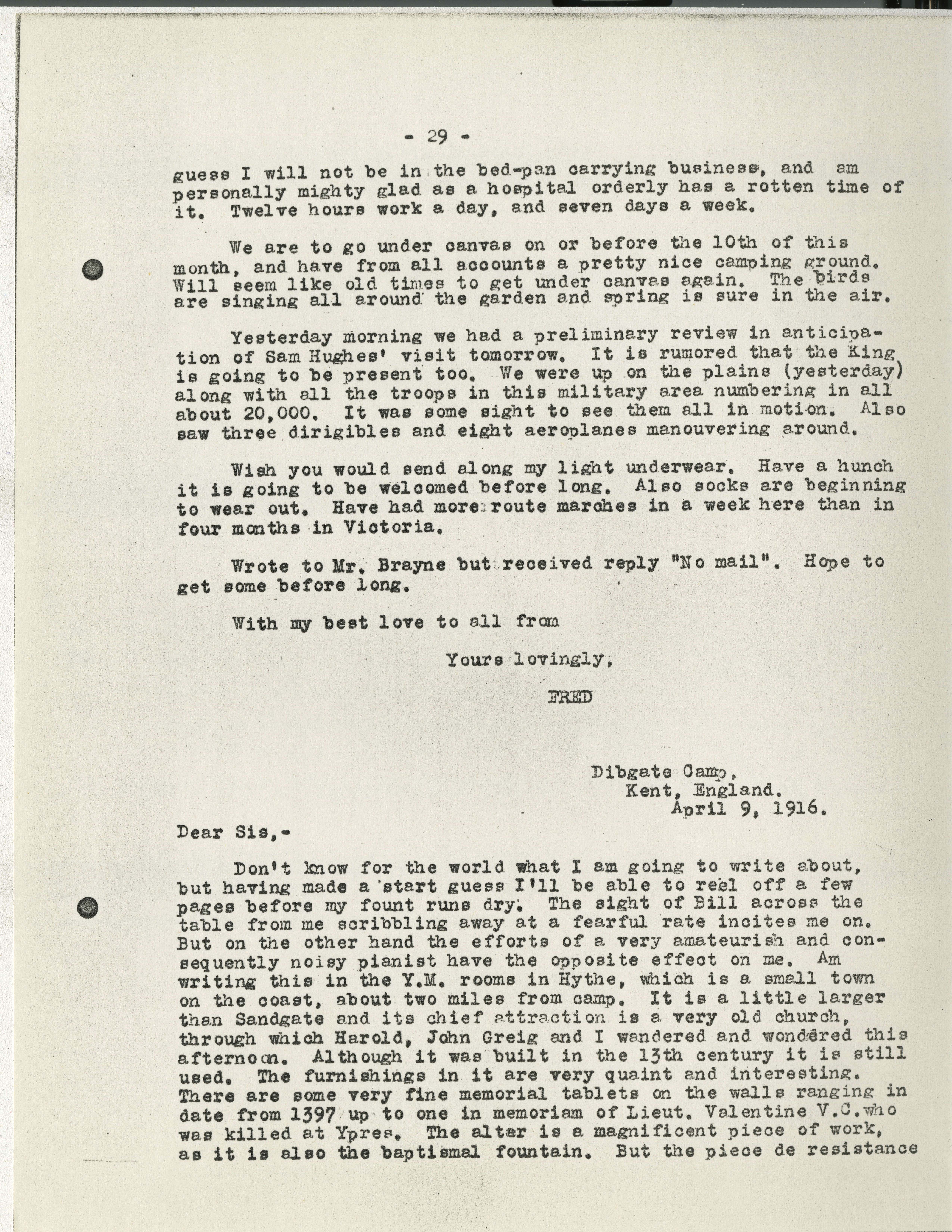 e612b909aa36 Frederick Carne WWI letters - Victoria to Vimy - UVic Exhibits