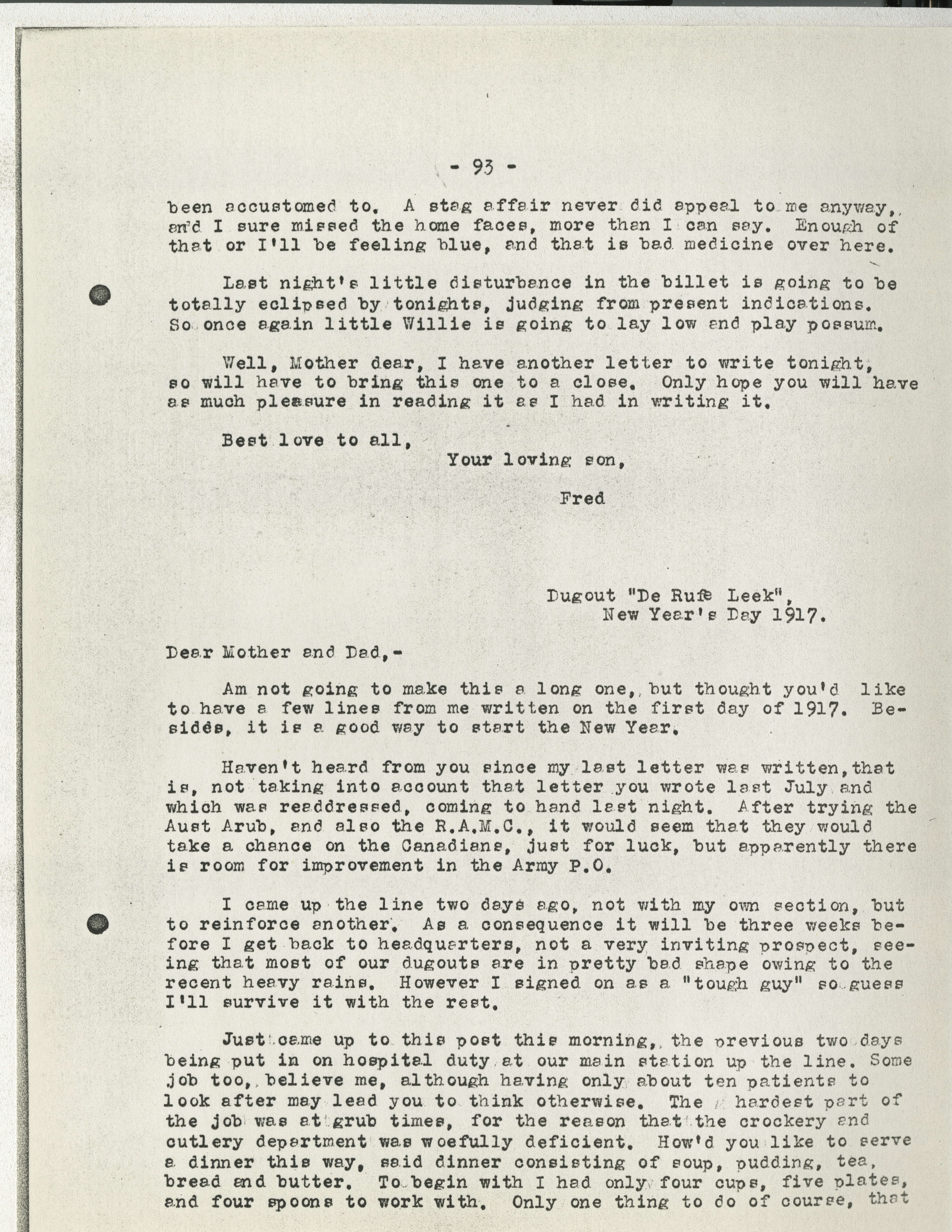 Frederick Carne WWI letters Victoria to Vimy UVic Exhibits