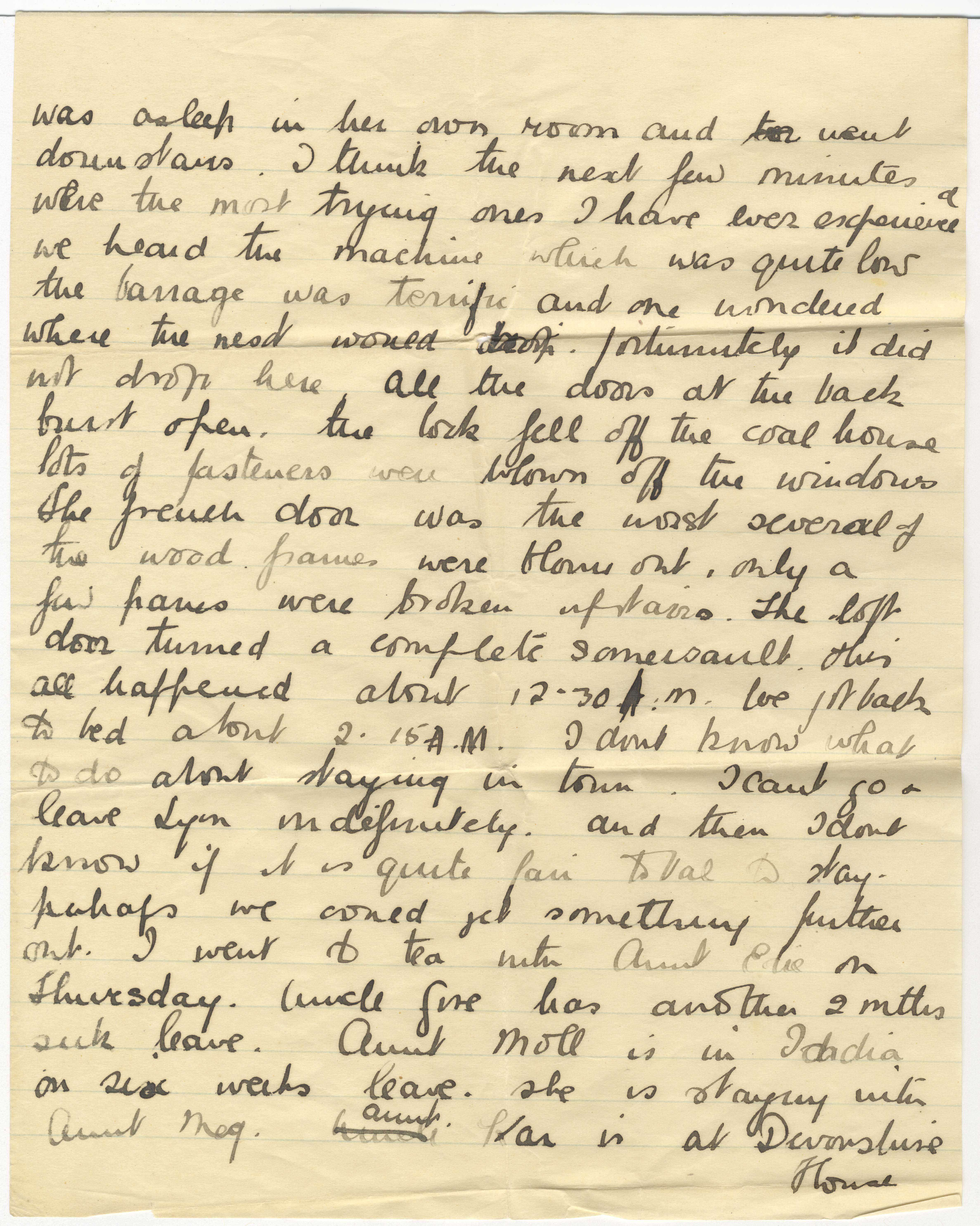 Frederick Barrow  letter from Mary Barrow to her fatherinlaw