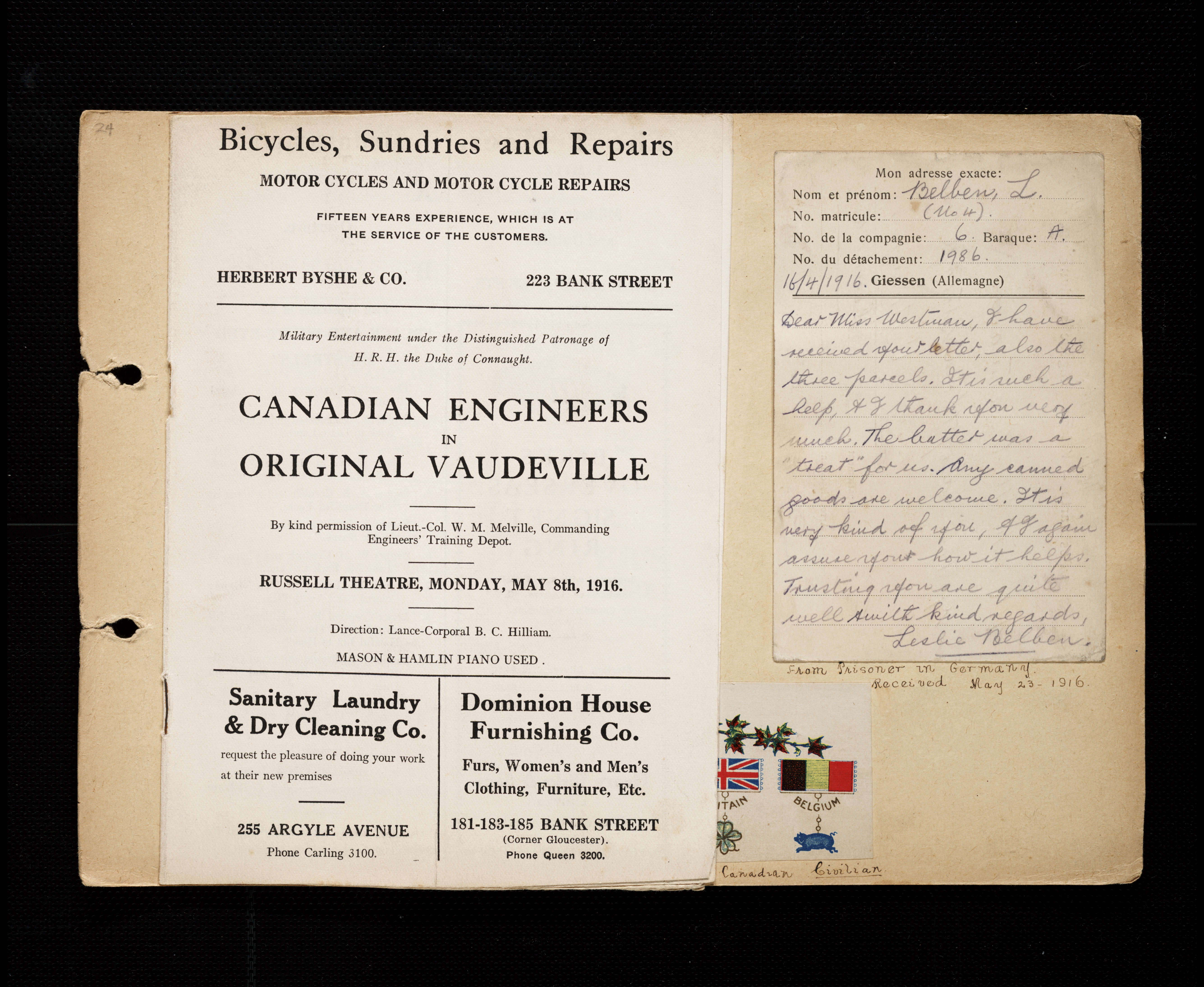 ad7df4b398 Florence Westman First World War Scrapbook - Victoria to Vimy - UVic ...