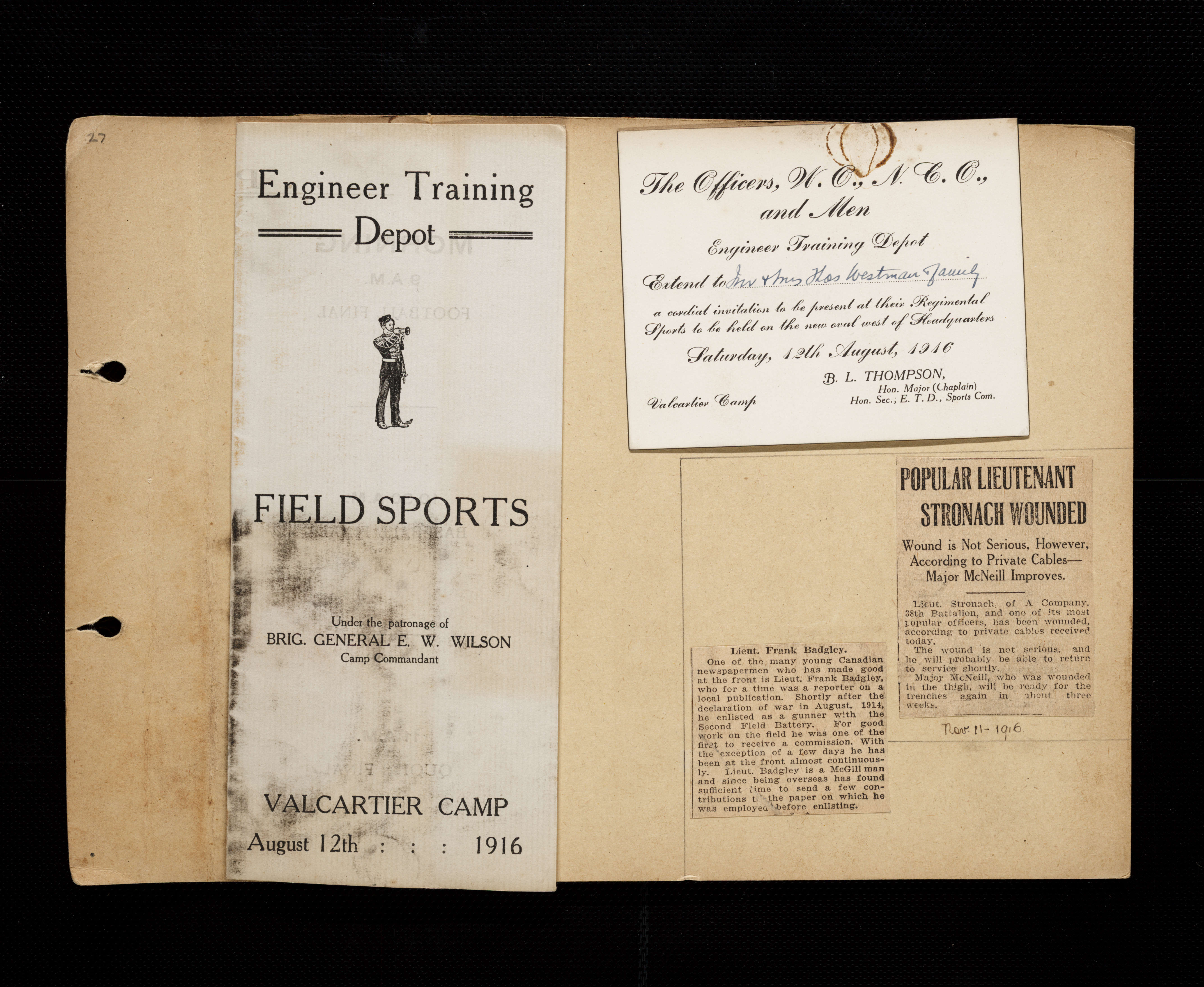 b3e8ee9bf7301 Florence Westman First World War Scrapbook - Victoria to Vimy - UVic ...