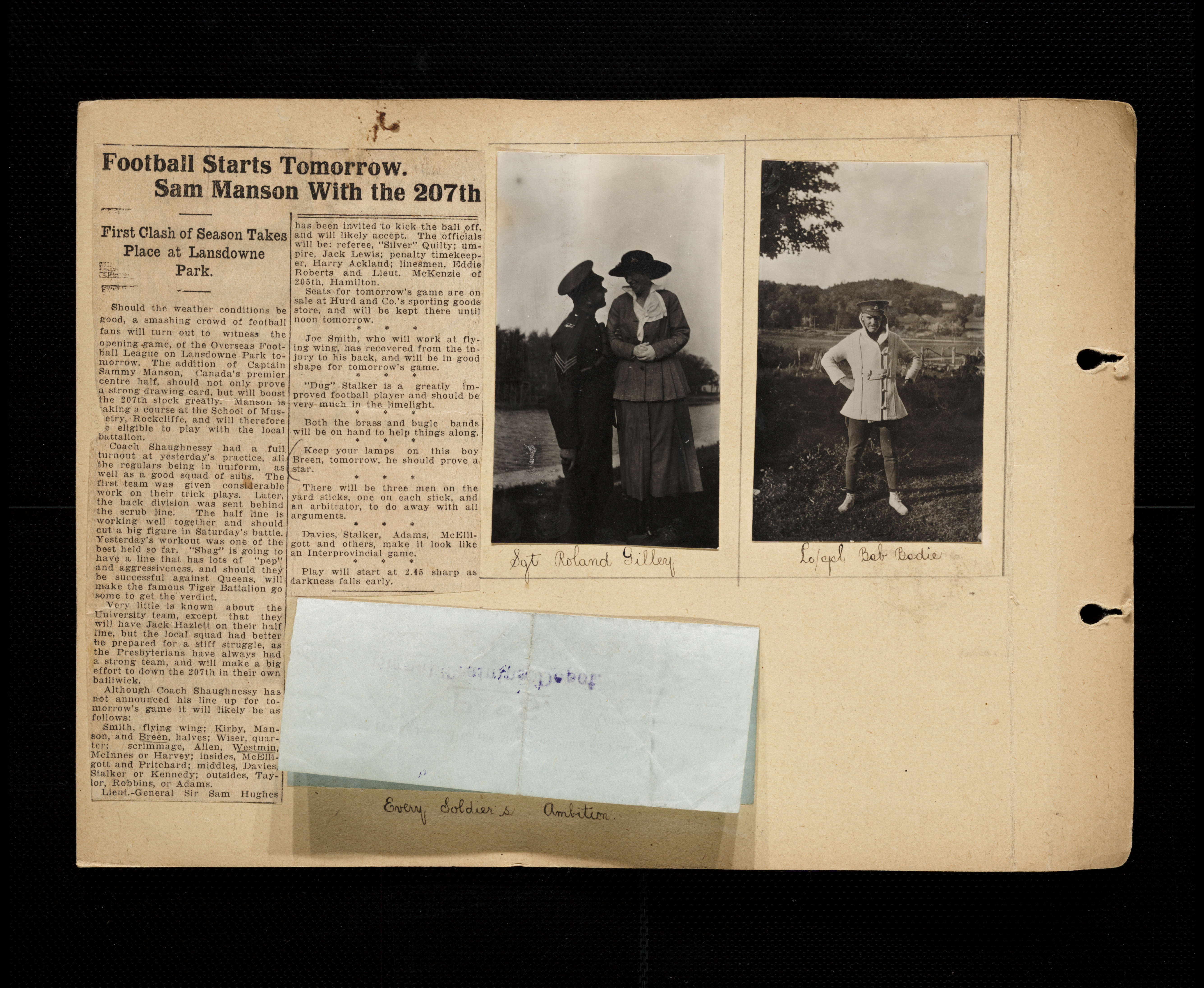 Florence Westman First World War Scrapbook Victoria To Vimy Uvic Gm Fuse Box Split Download Page